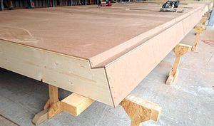 Bio-Hartfaserplatte Holzbauweise