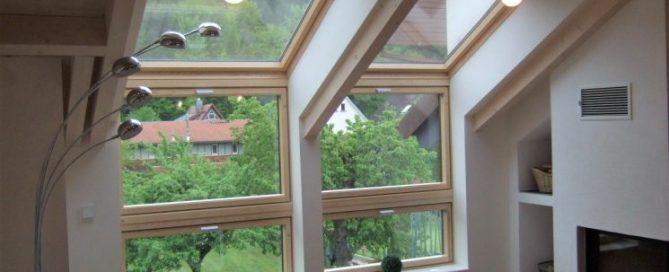 Ökologischer Holzbau Dachfenster
