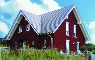 Neubau von Holzhäusern Doppelhaus Kredenbach