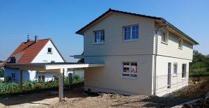 Neubau von Holzhäusern Einfamilienhaus Höchberg