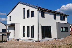 Neubau von Holzhäusern Einfamilienhaus Waldbrunn