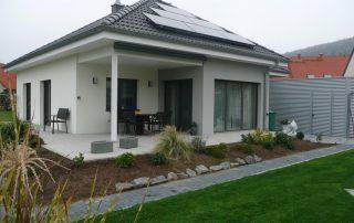 Neubau von Holzhäusern Einfamilienhaus Faulbach