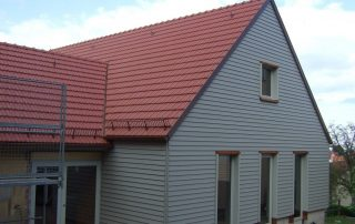 Neubau von Holzhäusern