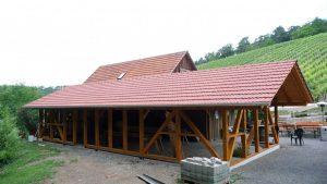 Zimmerer- und Dachdeckerarbeiten Weinbergscheune Erlenbach