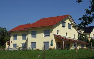 Neubau von Holzhäusern Wohnanlage Esselbach