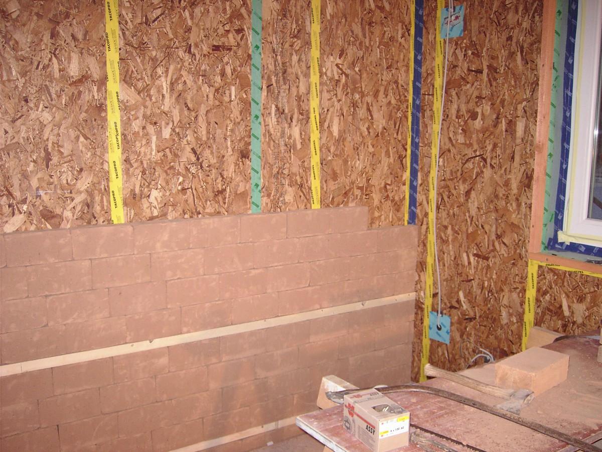 Massivholzwand Ausbauhaus