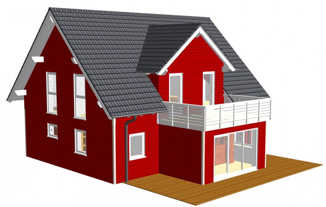 Schlüsselfertiges Holzhaus Lohr von Zimmerei Freisinger
