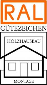 Holzhausbau Montage Gütezeichen
