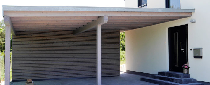 Ökologischer Holzbau Carport